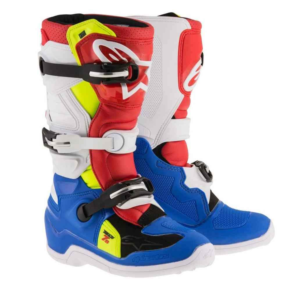 Blue//White Alpinestars Tech 7S Youth Motocross Boots Youth 6