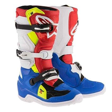37763051eff5a0 Amazon.com  Alpinestars Tech 7S Youth Motocross Boots - Blue White - Youth 7   Automotive