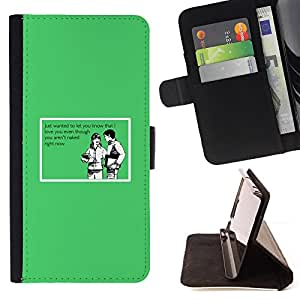 DEVIL CASE - FOR Apple Iphone 6 - Joke Funny Quote Love Nude Naked Relationship - Style PU Leather Case Wallet Flip Stand Flap Closure Cover