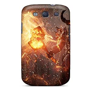 For Galaxy S3 Tpu Phone Case Cover(fire Monster)