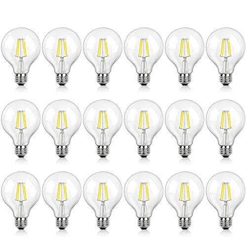 (18-Pack G25 LED Bulbs Vintage Globe 4W (40W Equivalent), E26 Edison Base Globe Light Bulb, 470 Lumens, 3000K Soft White, Omnidirectional Vanity Mirror Light, Non-Dimmable)