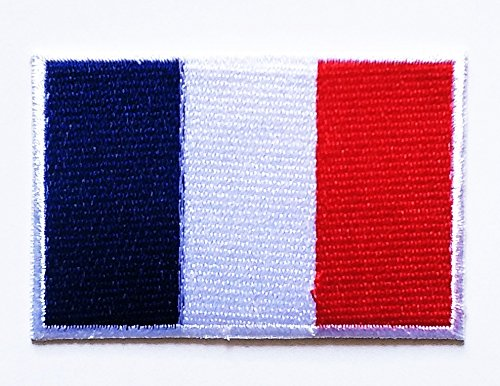 National Costumes Of France (France Flag Patch Embroidered Patch Iron On Sew On National Emblem Patch Jacket T Shirt Patch Sew Iron on Embroidered Symbol Badge Cloth Sign Costume)