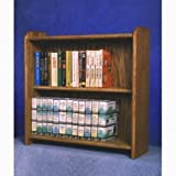 Solid Oak Cabinet for DVD's, VHS tapes, books and more Review