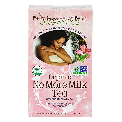 Earth Mama Angel Baby Organic No More Milk Tea, 16 Teabags/Box 35. g (Pack of 3) (Earth Mama Milkmaid Tea)