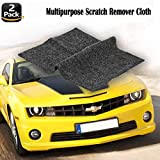 Multipurpose Car Scratch Remover Cloth, 2 Pack Upgraded Car Paint Scratch Repair Cloth, Car Scratch Removal Cloth,Magic Paint Scratch Remover for Surface Repair,Scuffs Remover,and Strong Decontamin
