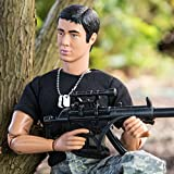 World Peacekeepers Action Figure - Collectible 12 Inch Military Action Figure Army Man - Army Men Toys w/ 6 Accessories (Black)