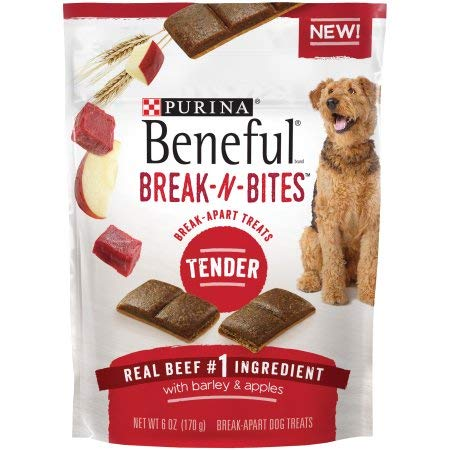 Purina Beneful Break-N-Bites Tender Real Beef with Barley & Apples Dog Treats 6 oz. Pouch
