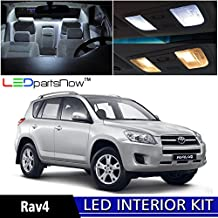 LEDpartsNOW Toyota RAV4 2006-2013 Xenon White Premium LED Interior Lights Package Kit (6 Pieces) + TOOL