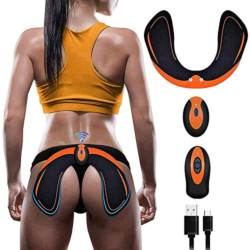 (SHENGMI ABS Stimulator Hips Trainer,Electronic Backside Muscle Toner,Smart Wearable Buttock Toner Trainer for Men Women)
