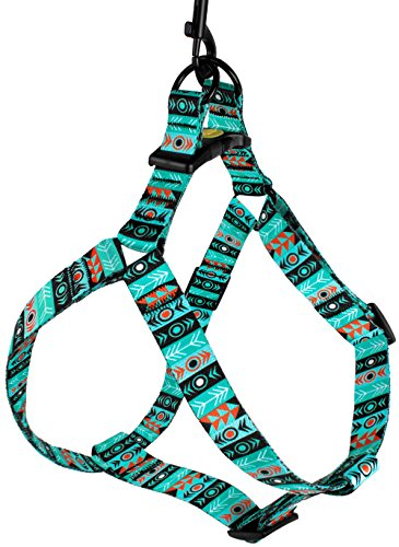 Image of CollarDirect Adjustable Dog Harness Tribal Pattern Step-in Small Medium Large, Comfort Harness for Dogs Puppy Outdoor Walking (Pattern 1, Small)