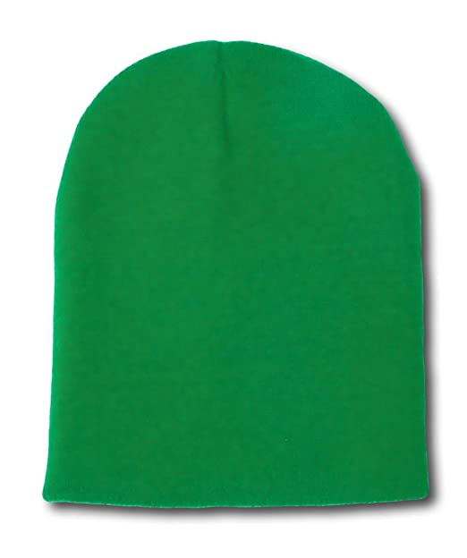 b669c84d8d6 Short Beanie Kelly Green at Amazon Men s Clothing store  Beanies Cap