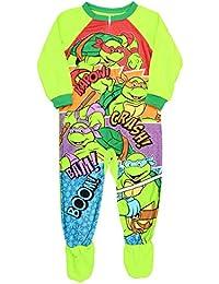 Teenage Mutant Ninja Turtles Footed Pajamas Blanket Sleeper Little Boys
