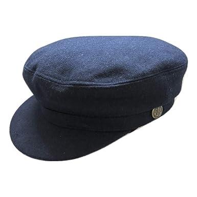 62b6a76d028 Cotswold Country Hats Melton Mariner Cap - 100% Wool - Navy. Breton ...