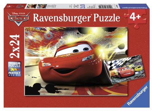Ravensburger Disney Cars: Cars Grand Entrance (2 x 24-Piece) Puzzles in a Box (Puzzle Cars Pixar Disney)