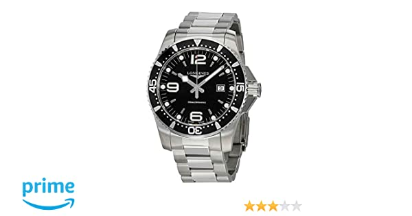 Amazon.com: Longines HydroConquest Steel 44mm Diving Watch L38404566: Watches