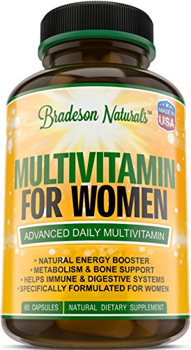 Women's Multivitamin Supplement. Vitamins A C D E & Vitamin B Complex. Immune & Female Support + Antioxidant & Natural Energizers. Non-GMO, Gluten Free, Made in the USA,60 Caps (Prenatal Iodine Vitamins)