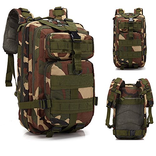Military Tactical Backpack Assault Pack Army Molle Bug-out Bag Hydration Backpack Small Rucksack for Hunting, Survival, Camping, Trekking, 30L