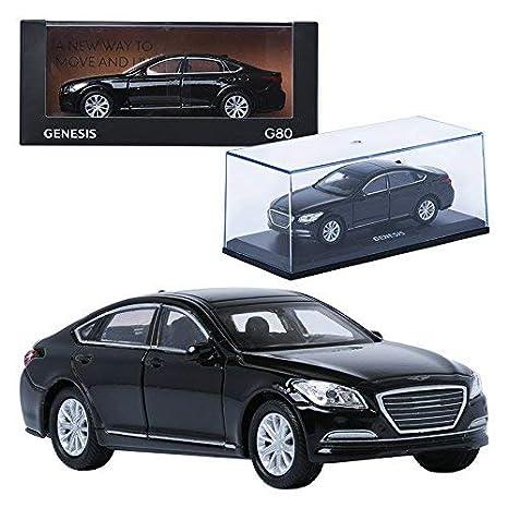 amazon com treforze 1 38 hyundai genesis g80 black display mini car