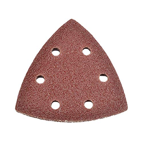 (Abrasive Tools - 20pcs 140 90mm Red Sand Polishing Brushed Paper Triangle 6 Hole Self Adhesive Sandpaper Mechanical - Tools Abrasive Triangular Sandpaper Adhesive Brush Disc Zoom Sand Sander)