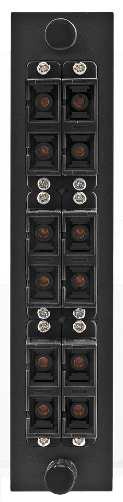 Hubbell HUBFSPSCDM6BK Adapter Panel, 12-Fiber, 6 SC Duplex, Phosphor Bronze, Black by Hubbell