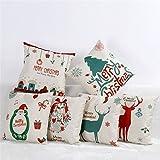 Tailbox Merry Christmas Series Cotton Linen Square Decorative...