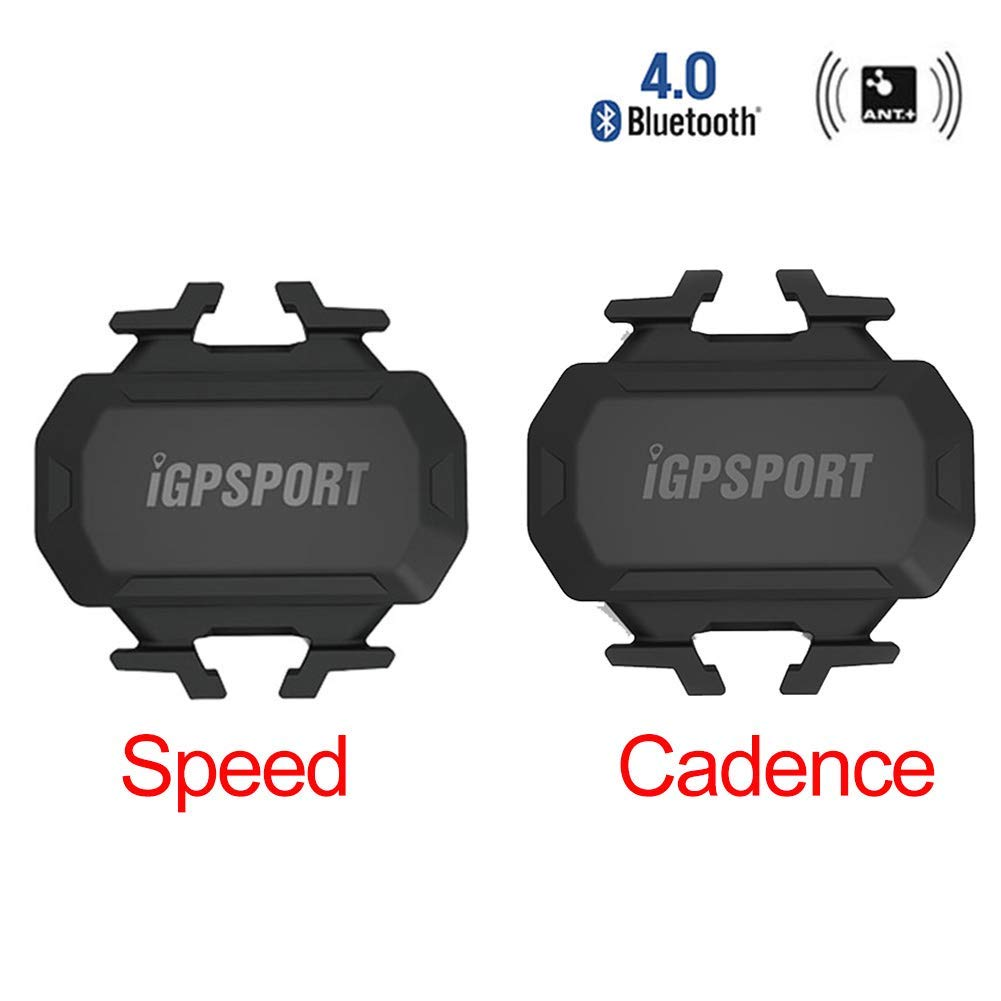 Cadence Sensor and Speed Sensor iGPSPORT Cycling Speed Sensor and Cadence Sensor Bike Speedometer Sensor blueetooth 4.0 & ANT+ Smart Wireless Waterproof Fitness Tracker for GPS Cycling Computer Compatible