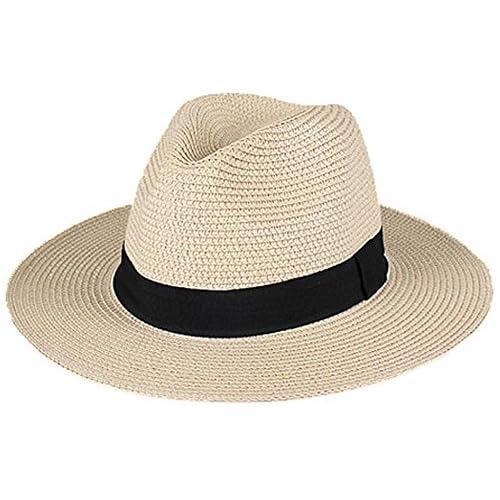 93223dd9c7e365 (ムコ) MUCO 麦わらハット 中折れハット 折りたたみ可能 メンズ 帽子 ストローハット 通気