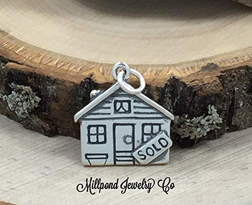 Realtor Charm, House Sold Charm, Real Estate Charm, Realtor Gift, New House Gift, Housewarming Gift, Sterling ()
