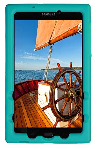 Tablet Case for Samsung Galaxy Tab A 8.0 (2017) (SM-T380) - BobjBounces Kid Friendly (Terrific Turquoise) ()
