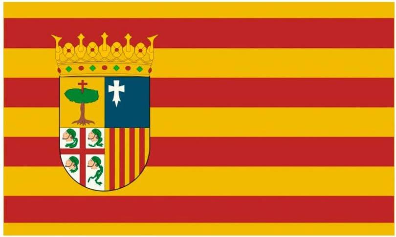DISBACANAL Bandera de Aragón con Escudo: Amazon.es: Juguetes y juegos