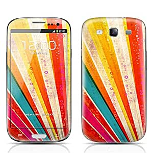 Piaopiao Colorful Pattern Front and Back Protector Stickers for Samsung Galaxy S3 I9300