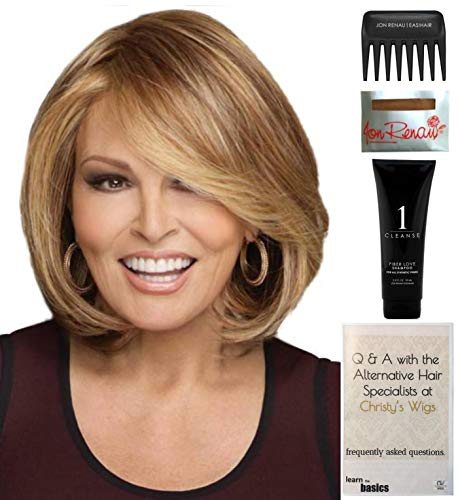 Cap Wig Mono Comfort - Bundle - 5 items: Upstage LARGE CAP by Raquel Welch Wig, Christy's Wigs Q & A Booklet, Wig Shampoo, Wig Cap & Wide Tooth Comb (Color Selected: RL3129)