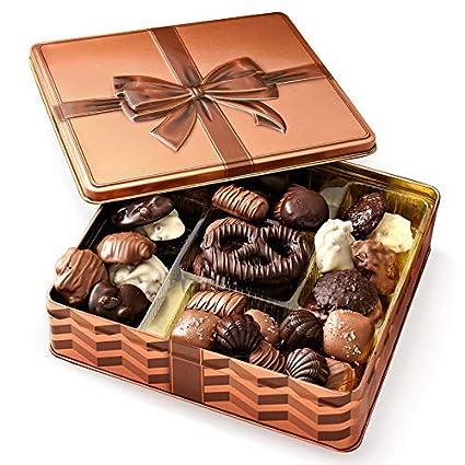 Cesta de regalo gourmet, caja de regalo de chocolate, regalo ...