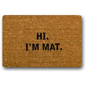 Amazon.com : Hi I\'m Mat (Natural/Black) (18\