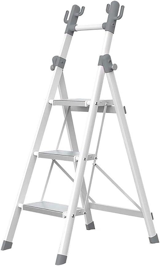 Escalera de mano Escalera De Perchero, Taburetes Plegables para El Hogar, Engrosamiento Escaleras De Almacenamiento De Escalera Multifunción De 3 O 4 Pasos Interiores (Tamaño : 3-Step): Amazon.es: Hogar