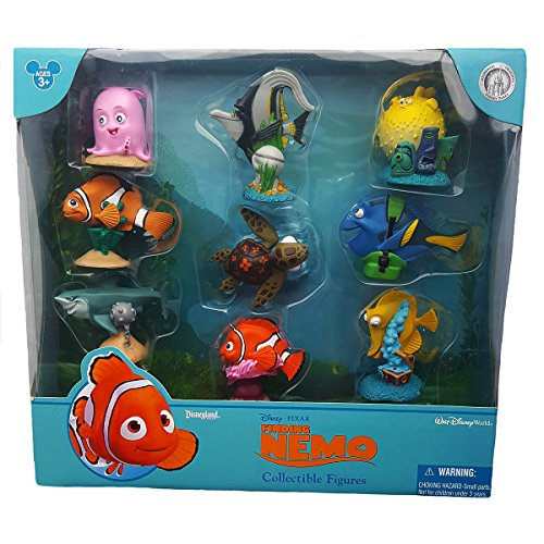 Disney Parks Exclusive Finding Nemo Figurine 9 Pc. Cake Topper Playset -