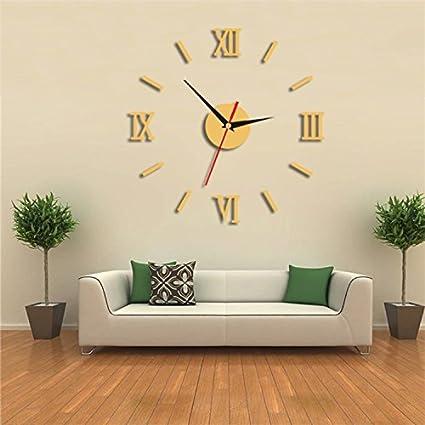 Komo Reloj de pared creativo arte romano-reloj de cuarzo de mesa elegante salón ultra