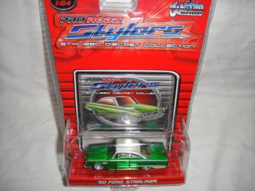 MAISTO 1:64 PRO RODZ STYLERS COLLECTION GREN AND WHITE 1960 FORD STARLINER DIE-CAST COLLECTIBLE