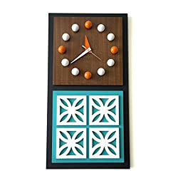 Mid-Century Modern Inspired Architectural Wall Clock Breeze Block