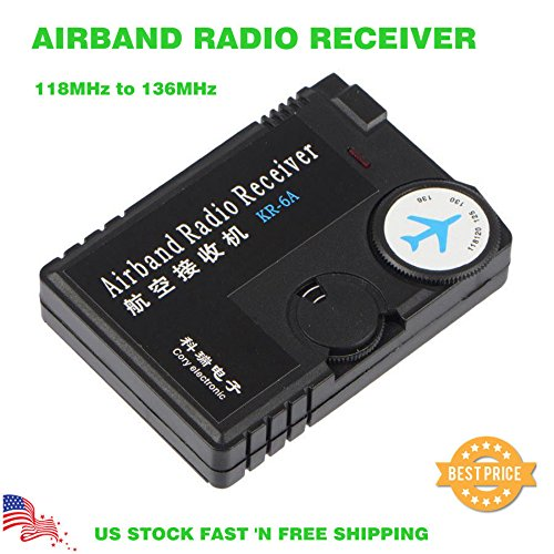 Radio Aircraft Noise (Adoner Air Band Radio Receiver 118MHz to 136MHz Aviation Band Receiver for Airport)