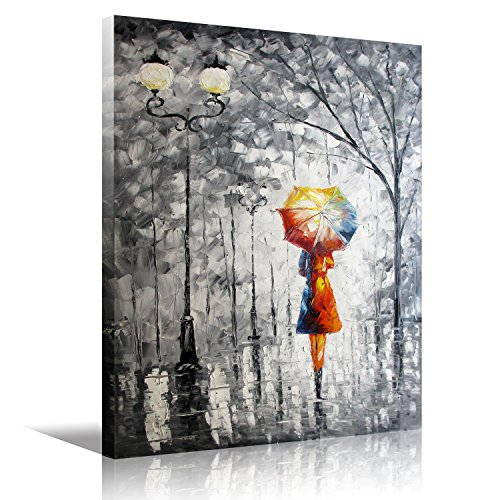 Lady Oil Painting - Wooden Framed Wall Art Oil Painting On Canvas