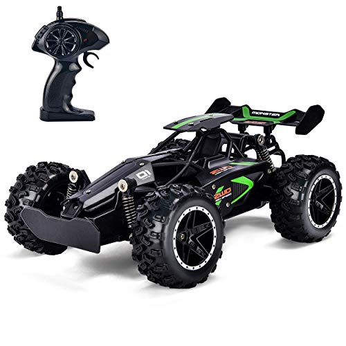 Rainbrace RC Racing Car Remote Control Car High Speed RC Car Fast RC Truck Rechargeable Radio Controlled Car RC Race Car Toys for Boys Girls Kids Age 5 16 Year Old Gift Present Black (The Best Radio Controlled Cars)