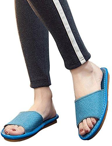 Caoutchouc Blau Chaussures Semelle Chaussons Maison en Unisexe de Youlee Antidérapant Été qYwUvXFFng