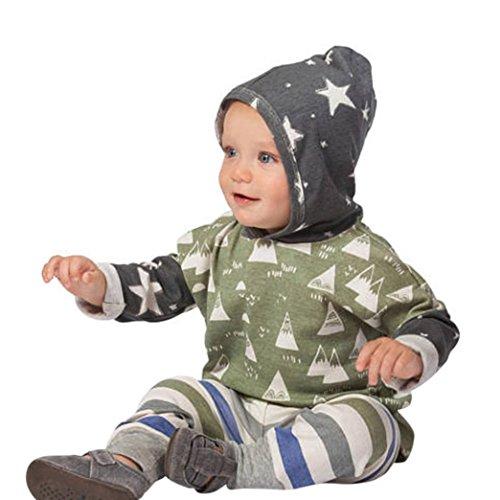 Baby Boy Kids Summer T-Shirt Blouse Tops + Pants 2pcs Outfits - 5