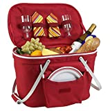 Mikash Collapsible Insulated Picnic Basket Set for 2 | Model PCNCST - 3 |