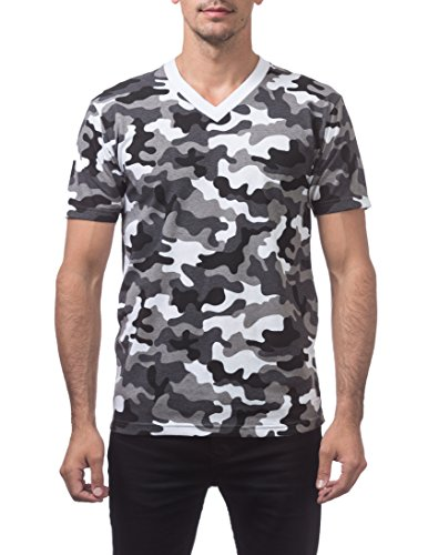 - Pro Club Men's Comfort Short Sleeve V-Neck T-Shirt, City Camo, 2X-Large