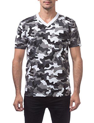 Pro Club Men's Comfort Short Sleeve V-Neck T-Shirt, City Camo, 5X-Large