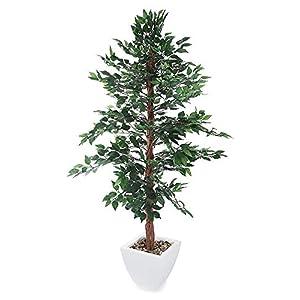MARJON FlowersArtificial Midnight Weeping Fig Tree - Portofino Planter Not Included 44