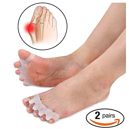 Dr.Acmer 2 Pairs of Gel Toe Stretcher & Separator, Fight Bunions, Hammer Toes and Yoga Practice by Dr.Acmer
