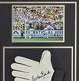 Firmado Autografiado Pele Camisa & Gordon Banks Guante -mundo Taza Pantalla - Autographed Soccer Equipment